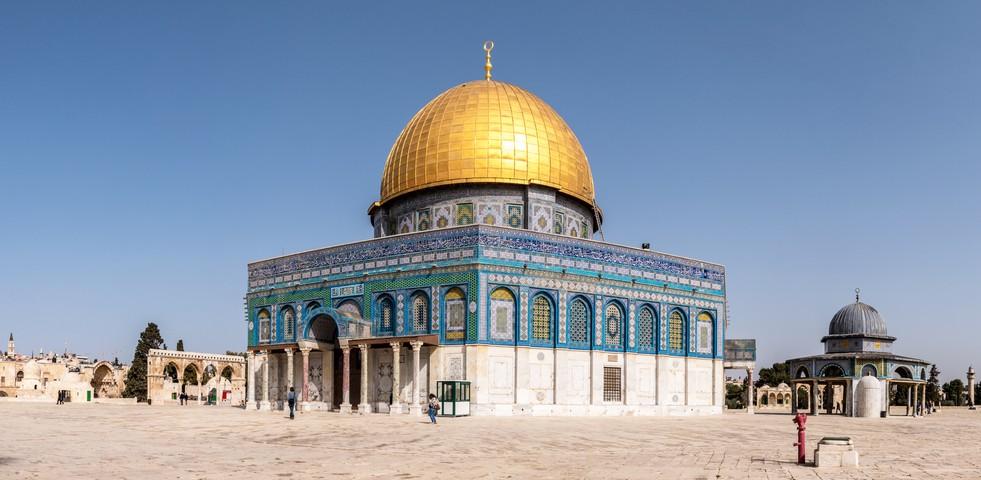 Islamische Heiligtümer: Der Felsendom auf dem Tempelberg in Jerusalem. (#3)