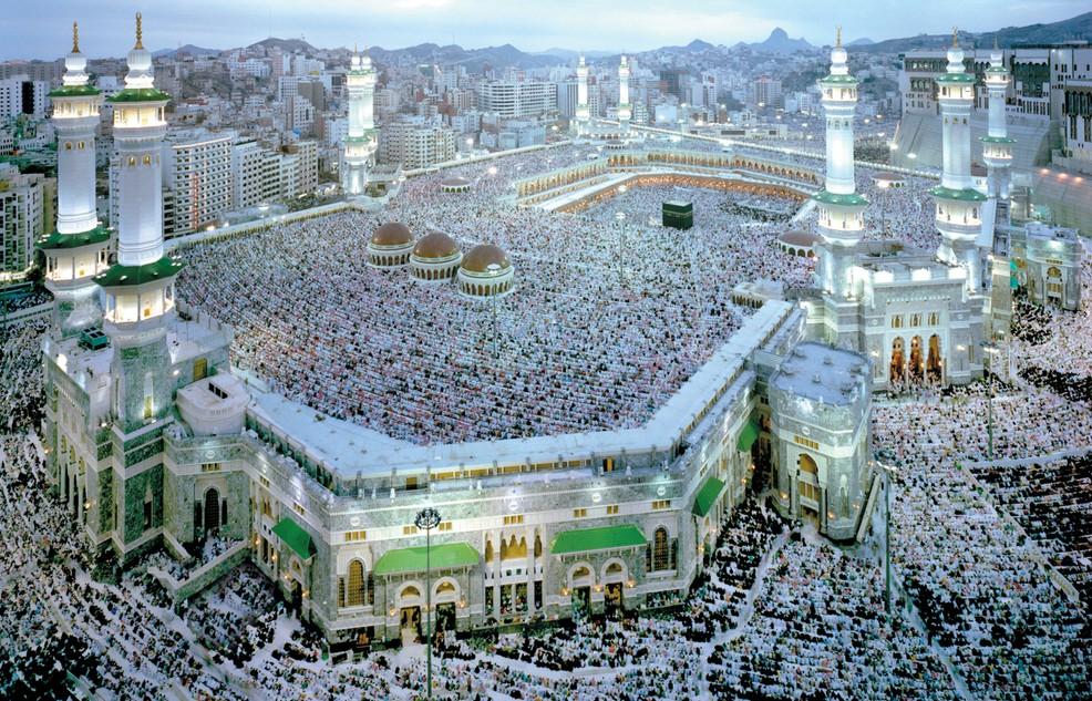 Die Nummer 1 der islamischen Heiligtümer ist die Stadt Mekka: Hier zusehen ist die große Moschee. (#1)