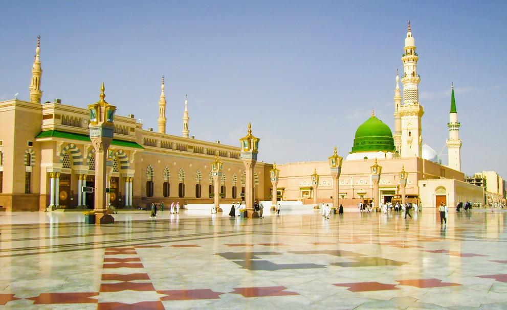 Islamische Heiligtümer: die Moschee des Propheten in Medina in Saudi-Arabien. (#2)